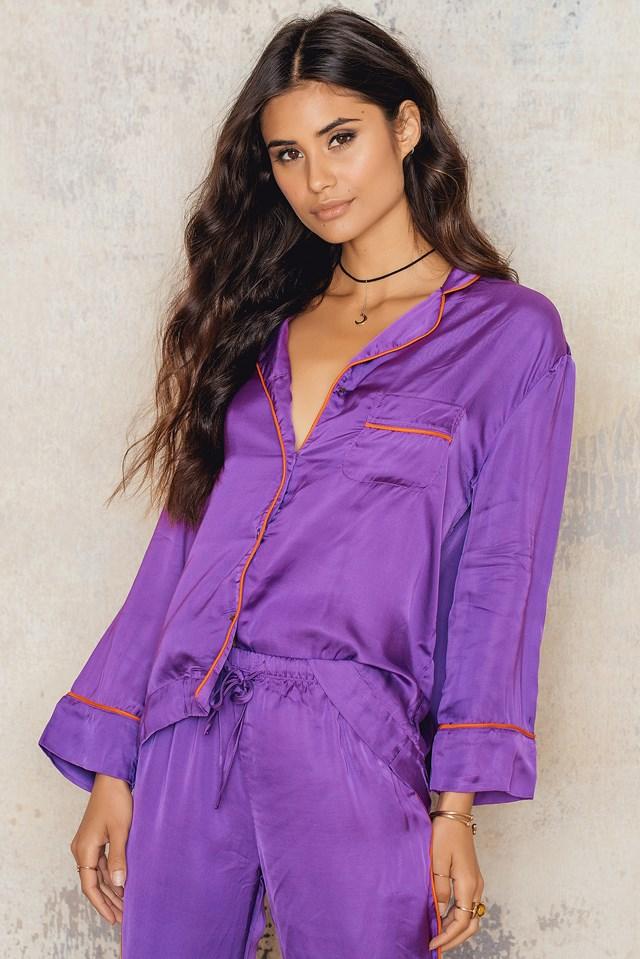 Jude XL Pyjama Shirt Bellflower