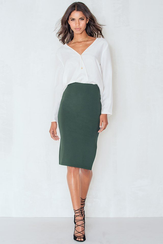 Twin Set Skirt Dark Green