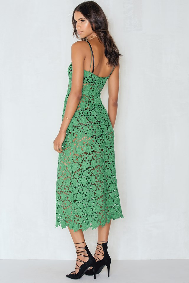 Floral Crochet Midi dress NA-KD.COM
