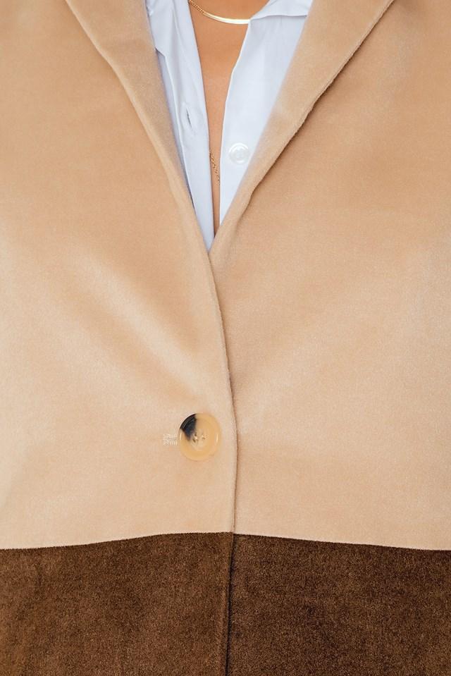 2 coloured coat Beige/Brown