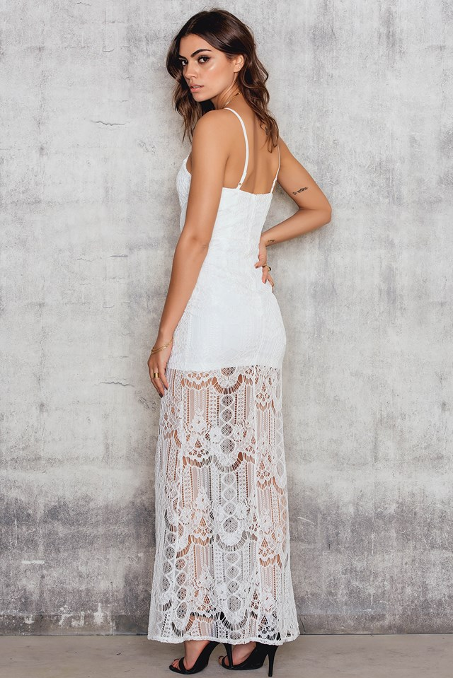 Lace Maxi Dress White