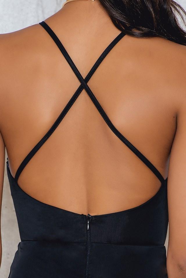 Ross Open Back Dress Black