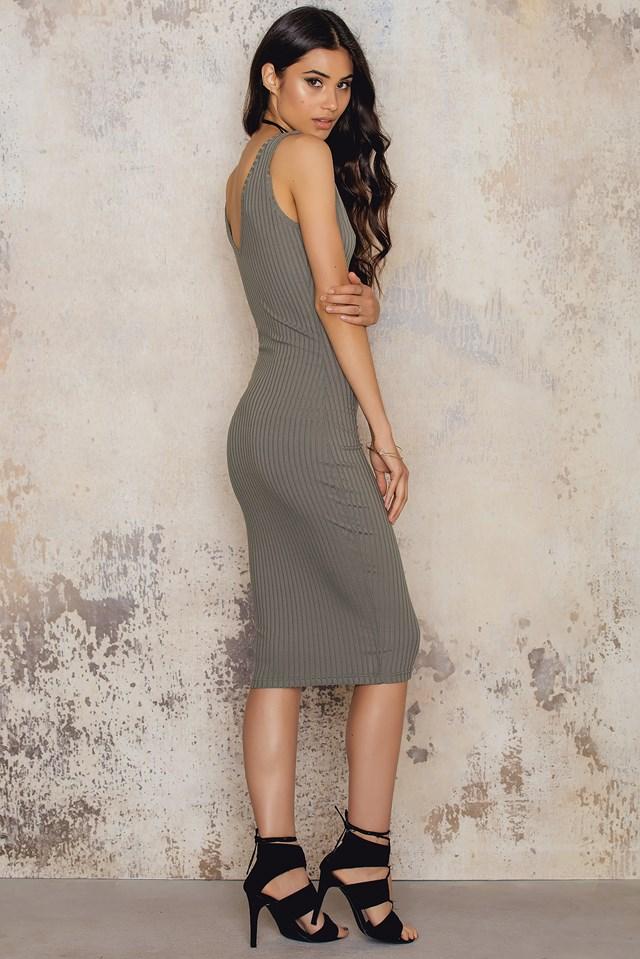 Casual Bodycon Dress Grey