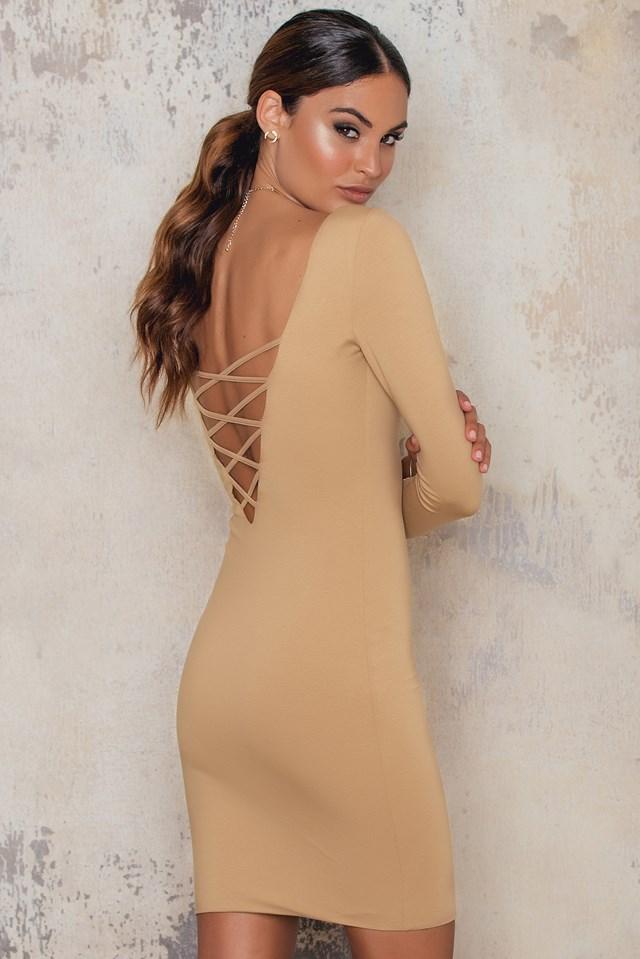 Crisscross Back Bodycon Dress NA-KD.COM
