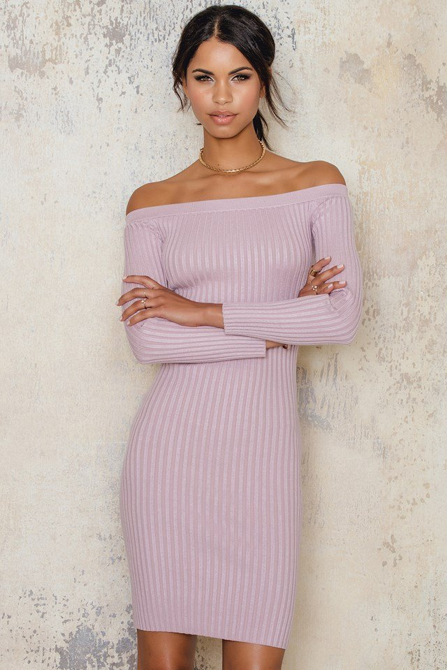 Aspen Knit Dress Mauve