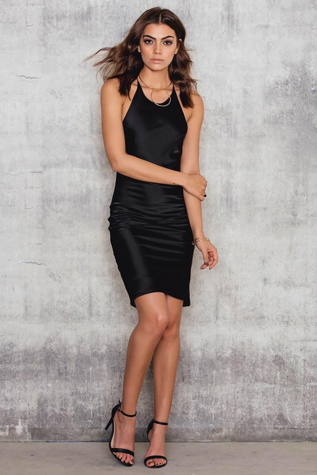 Cross My Heart Dress Black Black