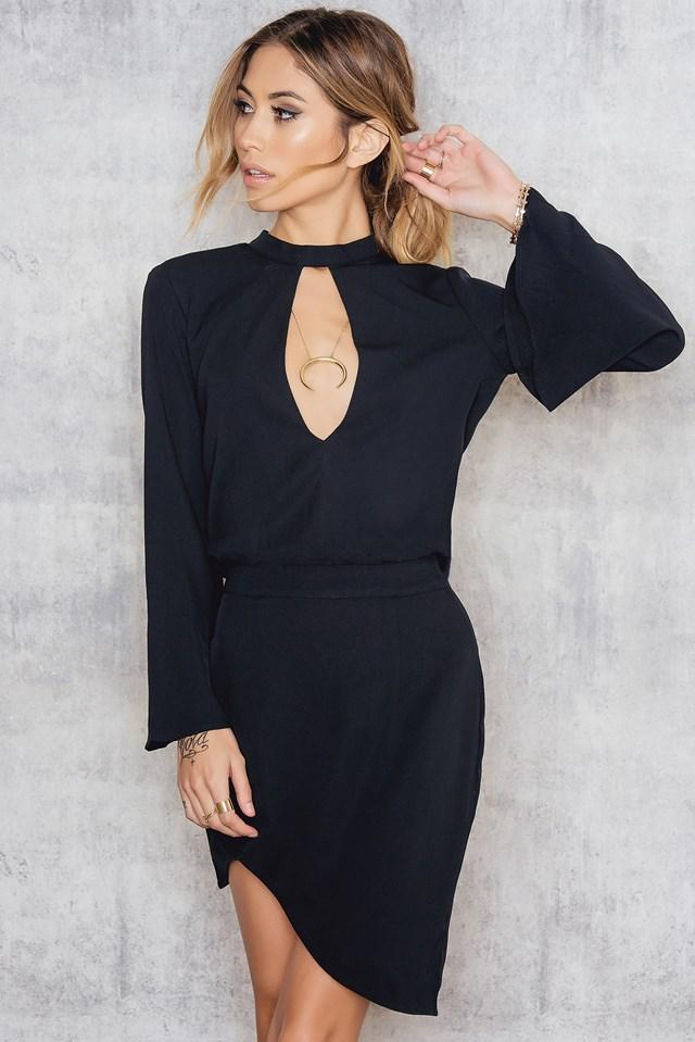 Bijoux Bell Sleeve Dress Black