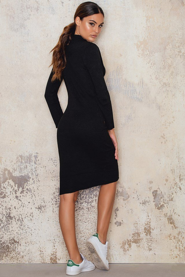 Love Struck Knit Dress Black