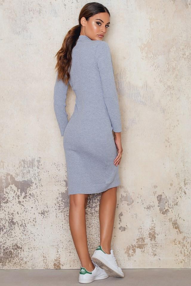 Sukienka Love Struck Knit Grey