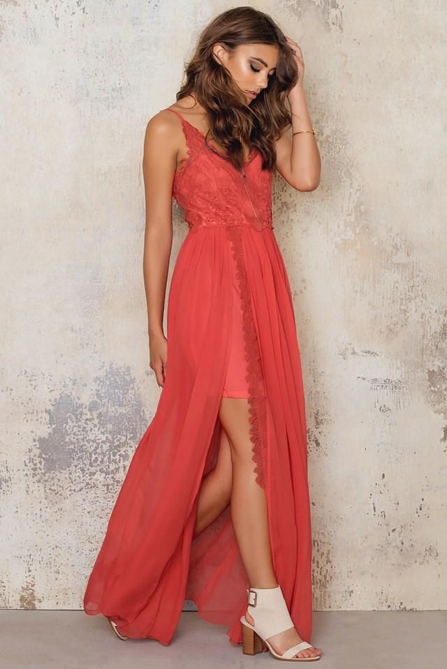 Azure Maxi Dress Tangerine
