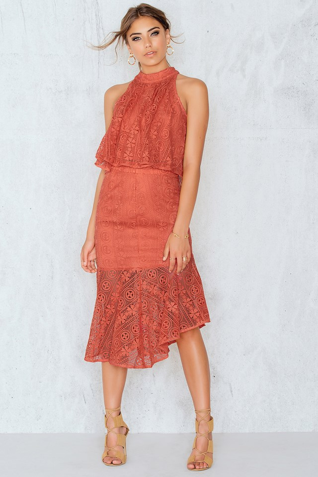Promenade Mermaid Skirt Tangerine