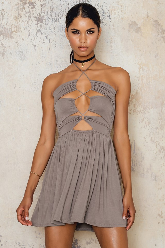 Sophia Dress Taupe