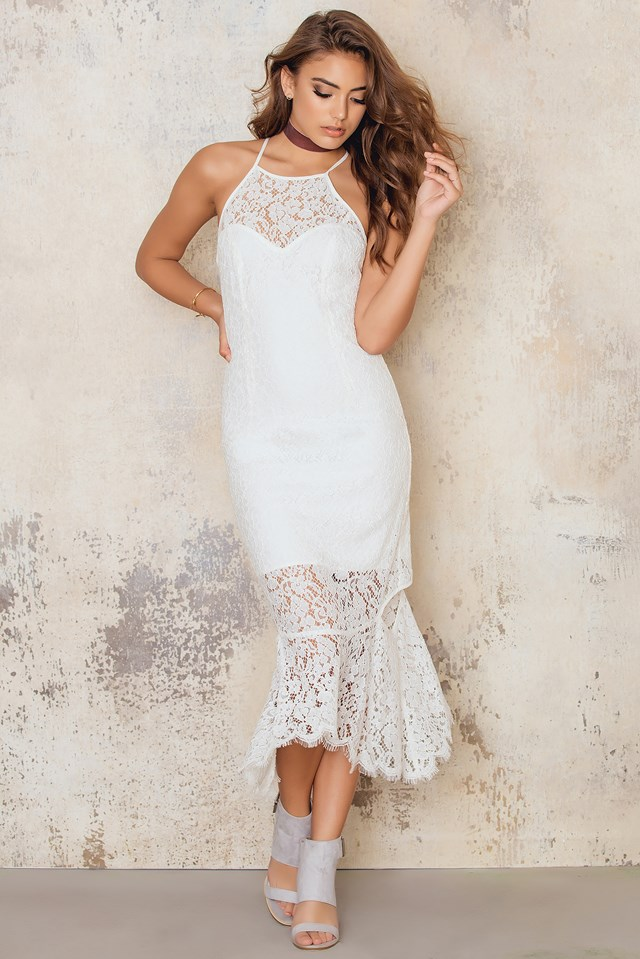 Sienna Cut Away Dress Ivory