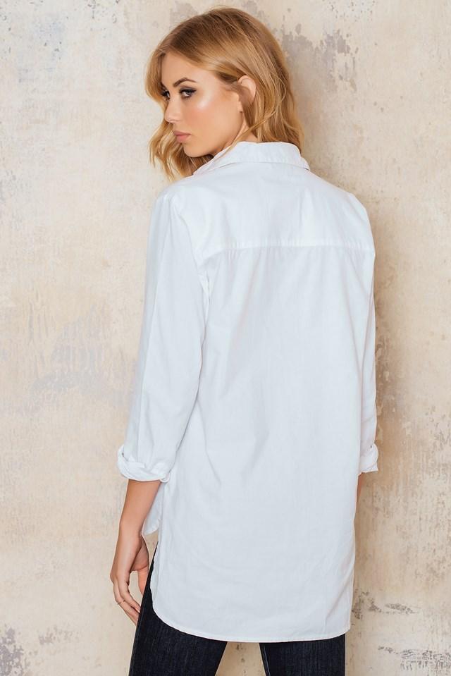 Oversize Slit Shirt White