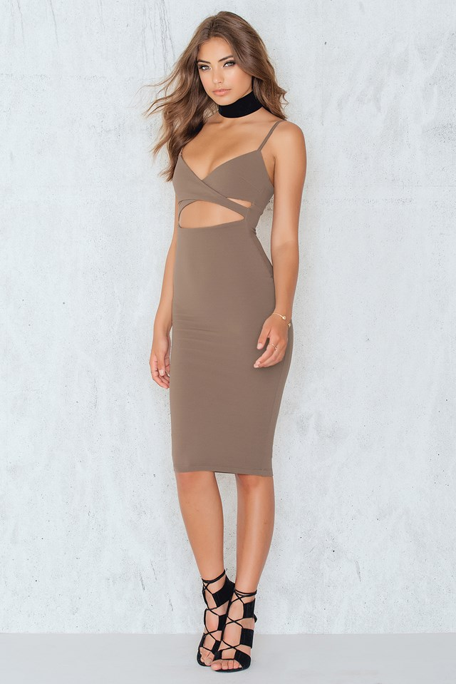 Heidi Bodycon Dress Mocha