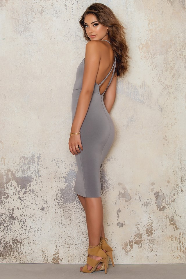 Paradise Strap Midi Dress Mocha