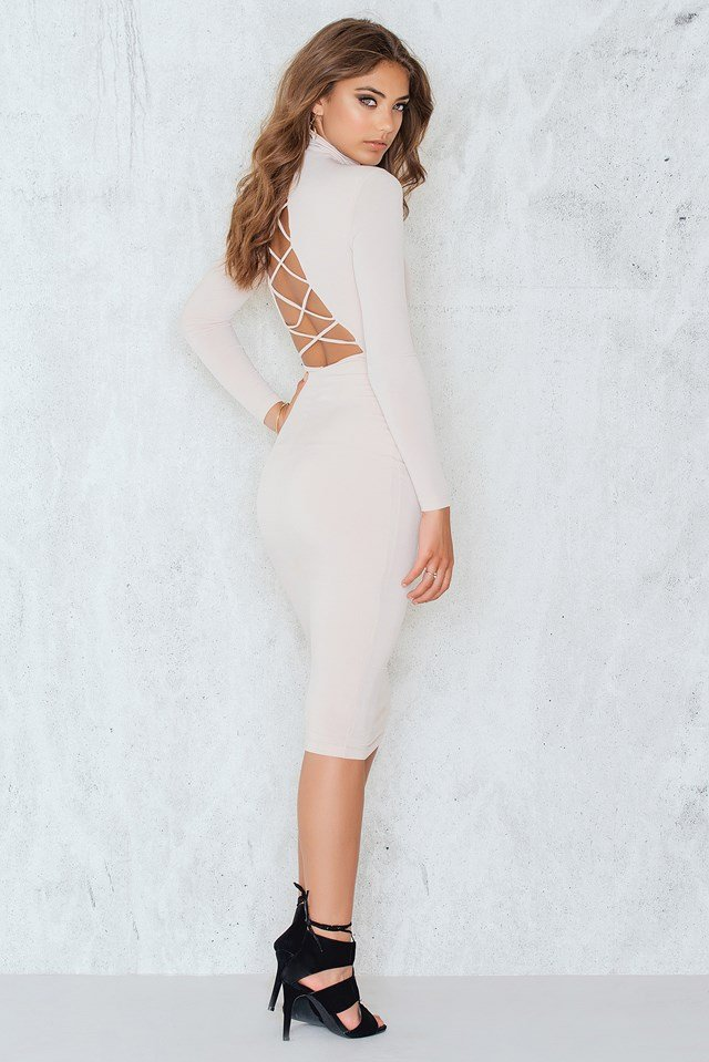 Tropicana Backless Dress Nude