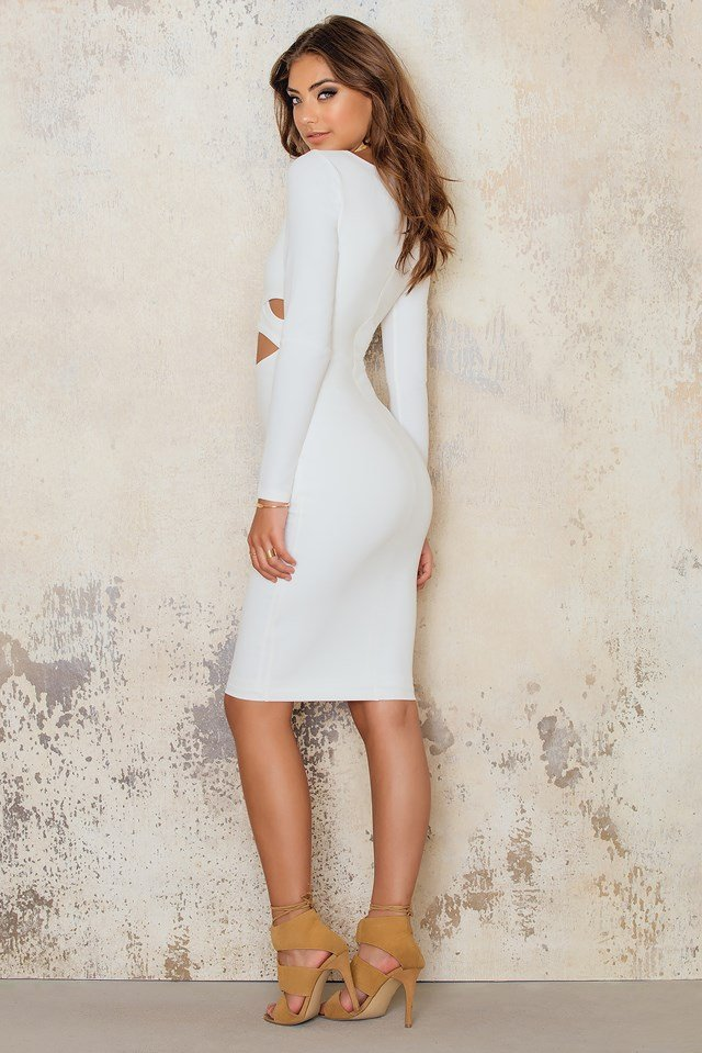 Bombshell Wrap Dress Ivory