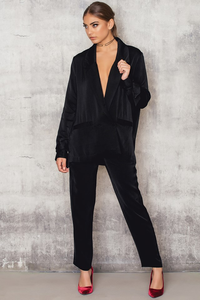 Straight Suit Pants Black