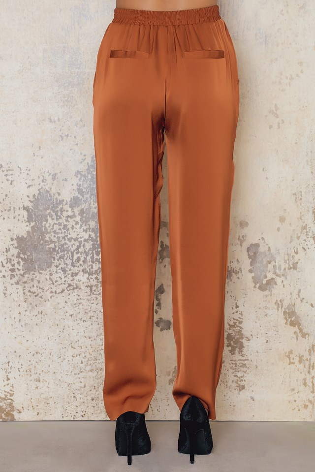 Straight Suit Pants Rust