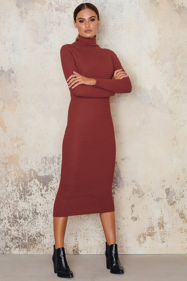 Bluma Dress Russet Brown