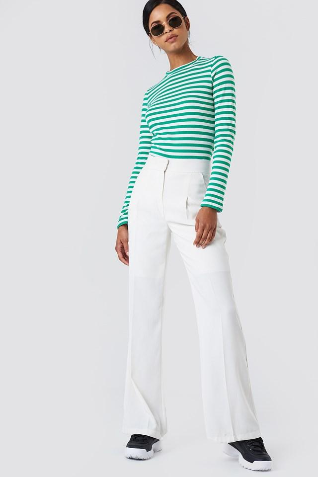 Striped Shirt & White Throuses