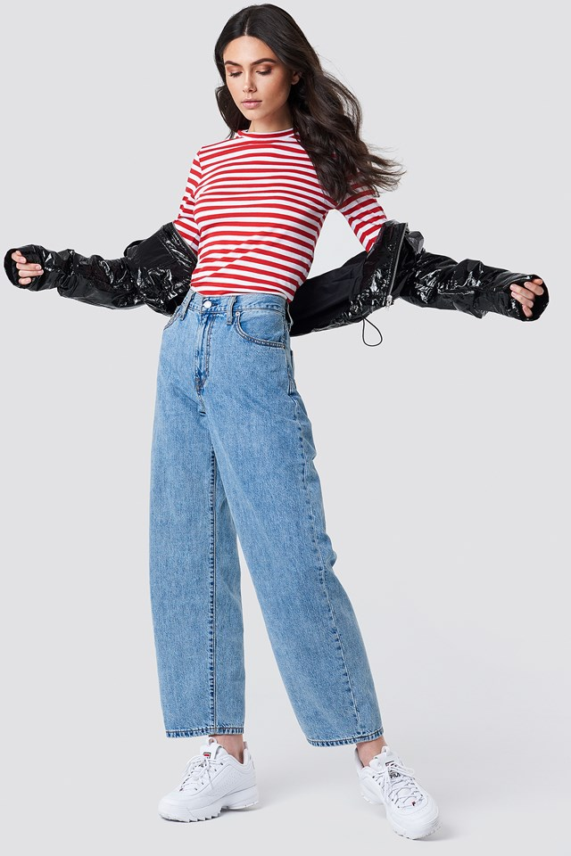 Cropped Wide Leg Jeans Outfit