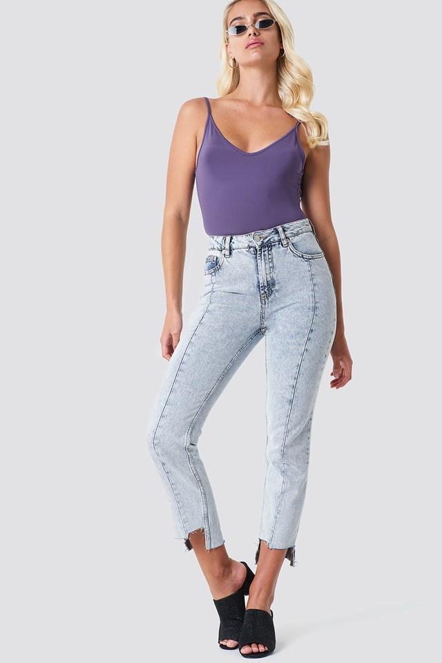 Bodysuit with Denim Jeans