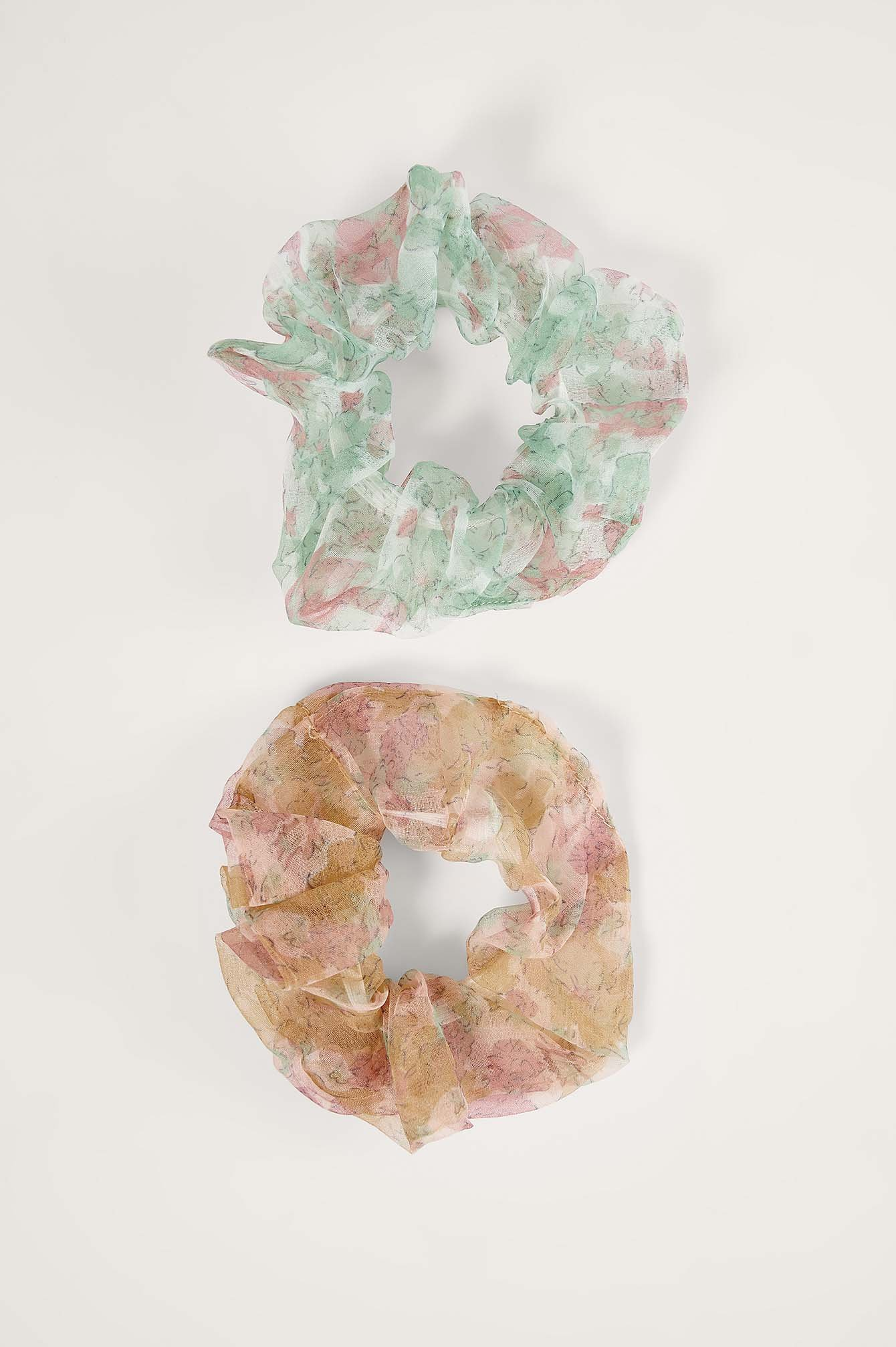 na-kd accessories -  2-Pack Printed Organza Scrunchies - Multicolor