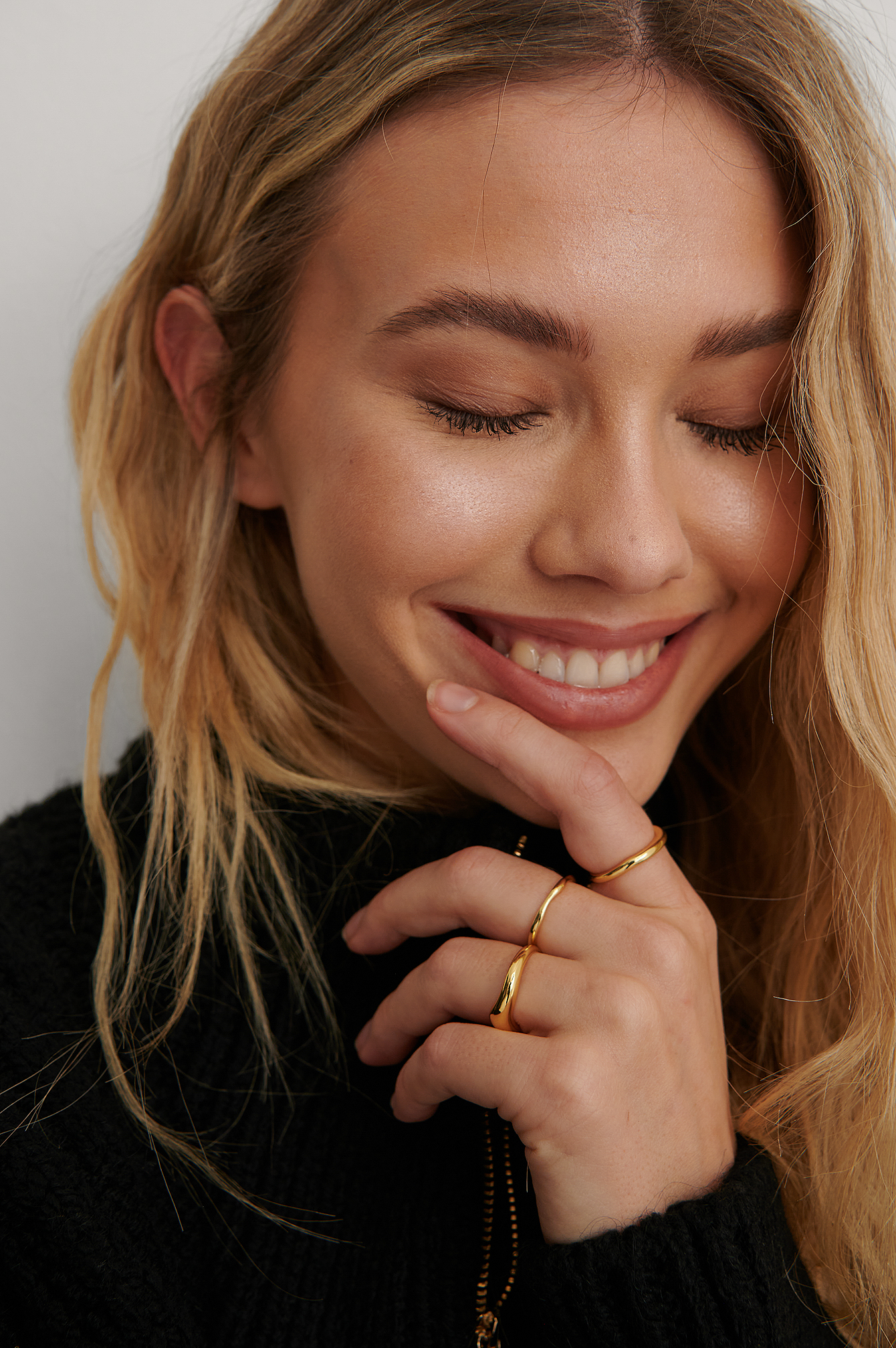 NA-KD Accessories Ring Sæt - Gold