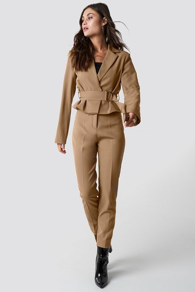 Tailored slim suit pants outfit