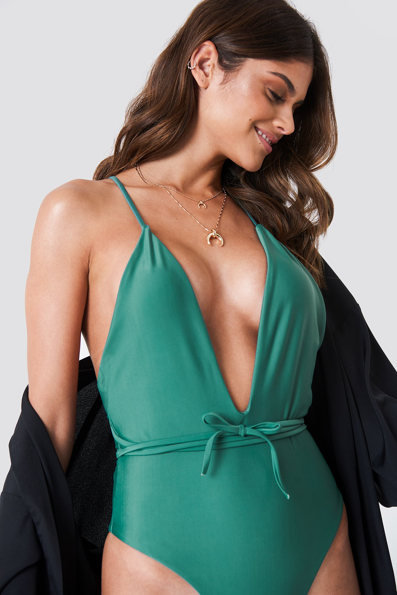 HOT ANATOMY V-Front Swimsuit - Green