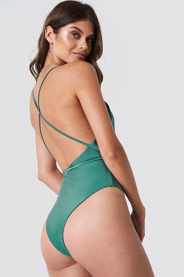 V-front Swimsuit Green