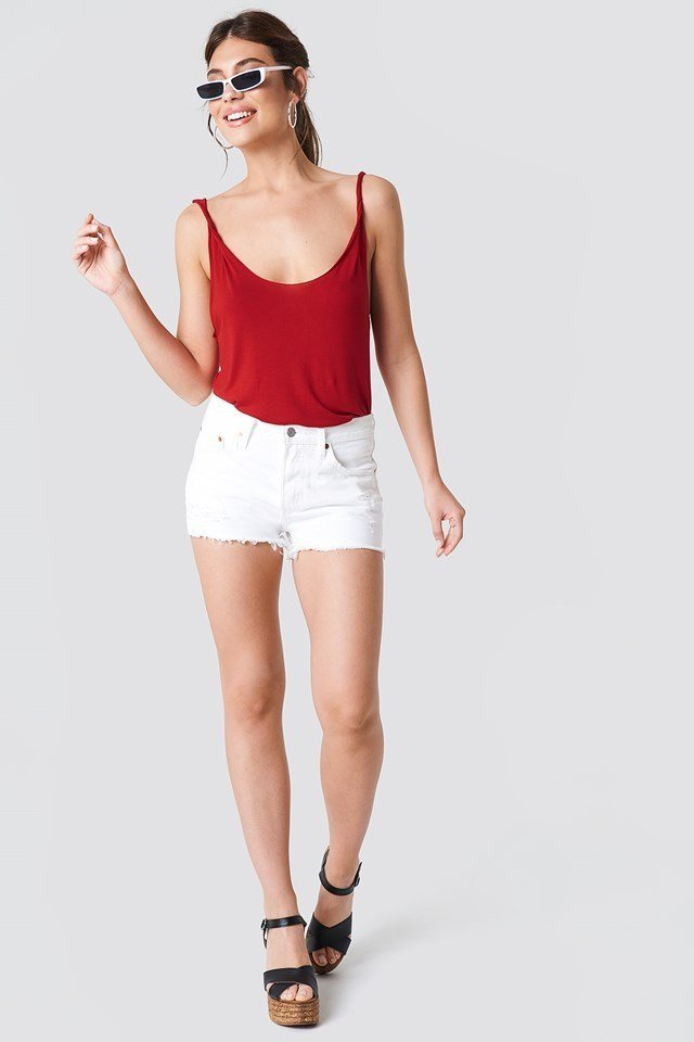 White Shorts with Basic Top