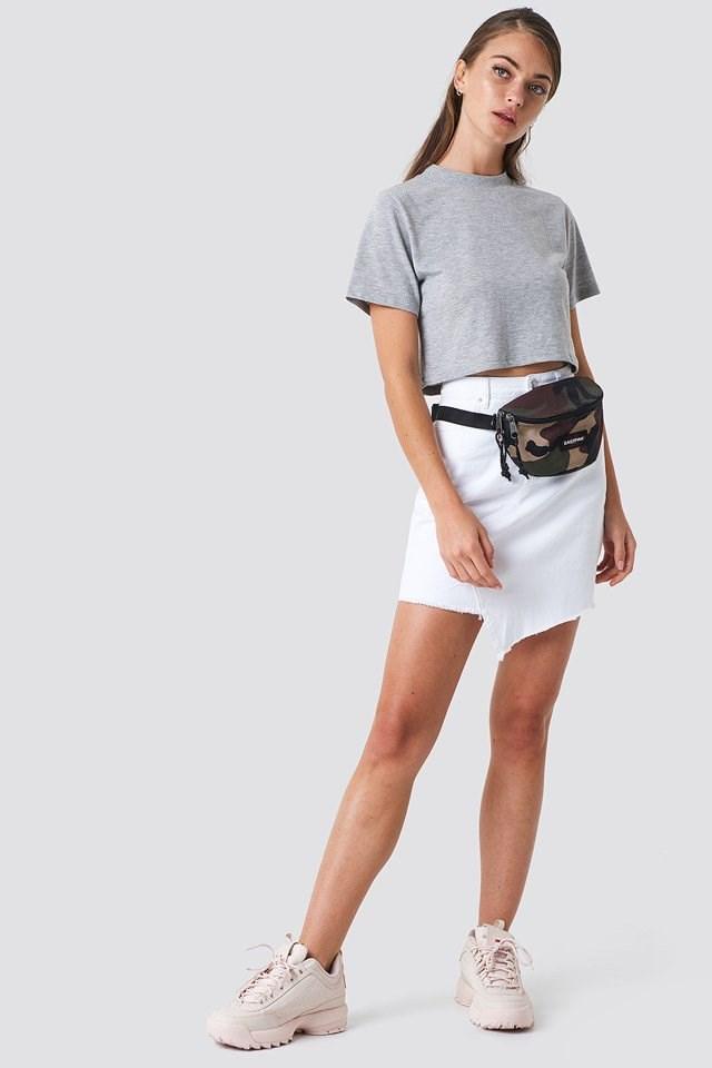 Crop Top with Denim Skirt