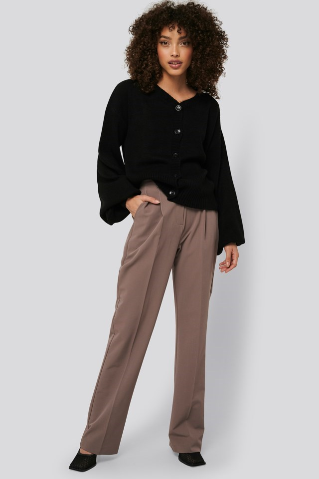 Short Chunky Knit Cardigan