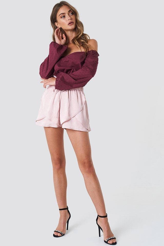 Off Shoulder with Flounce Short