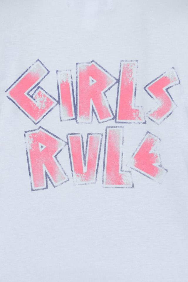 Girls Rule T-shirt White