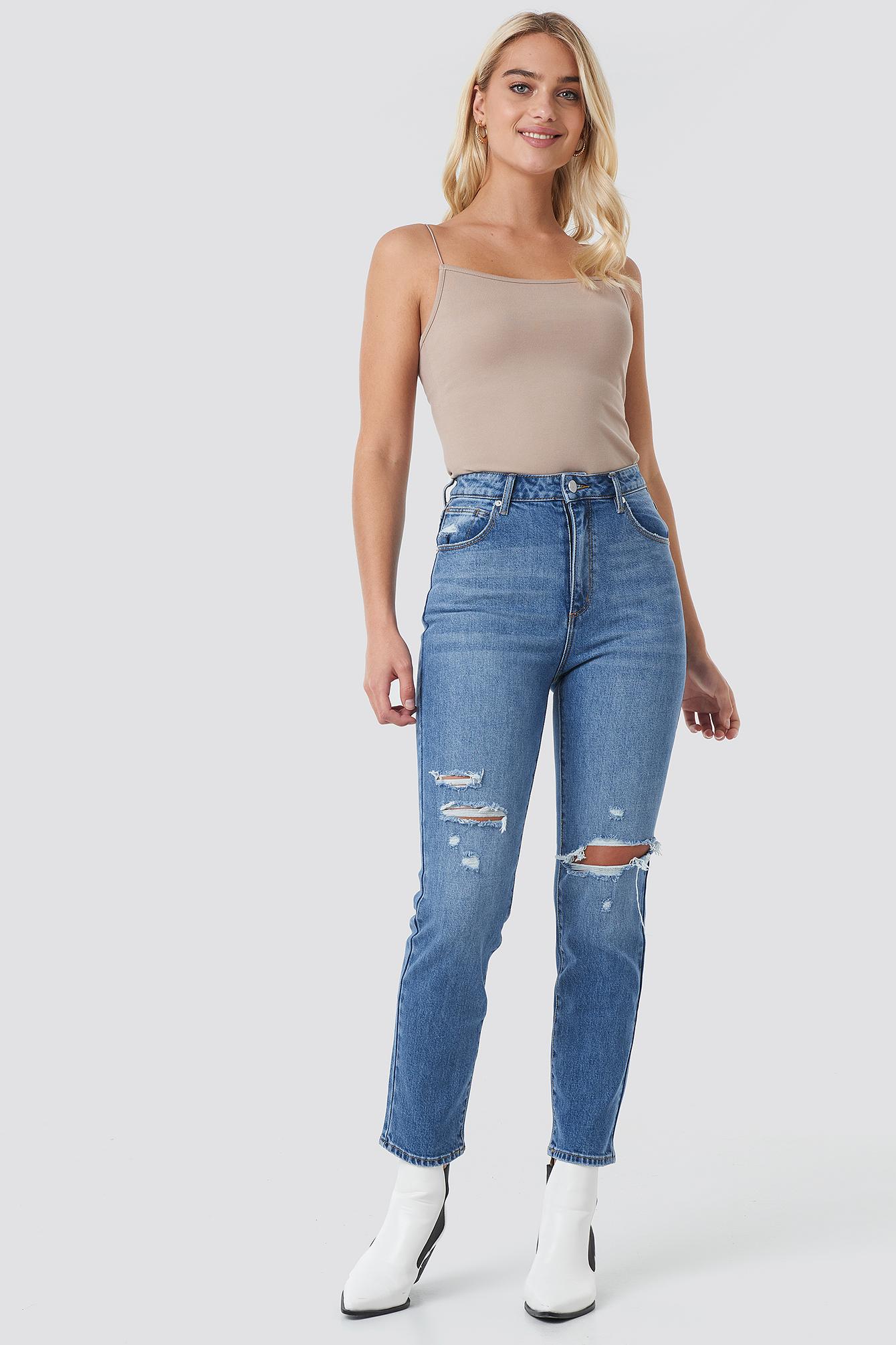 Billede af Abrand A 94 High Slim Jeans - Blue