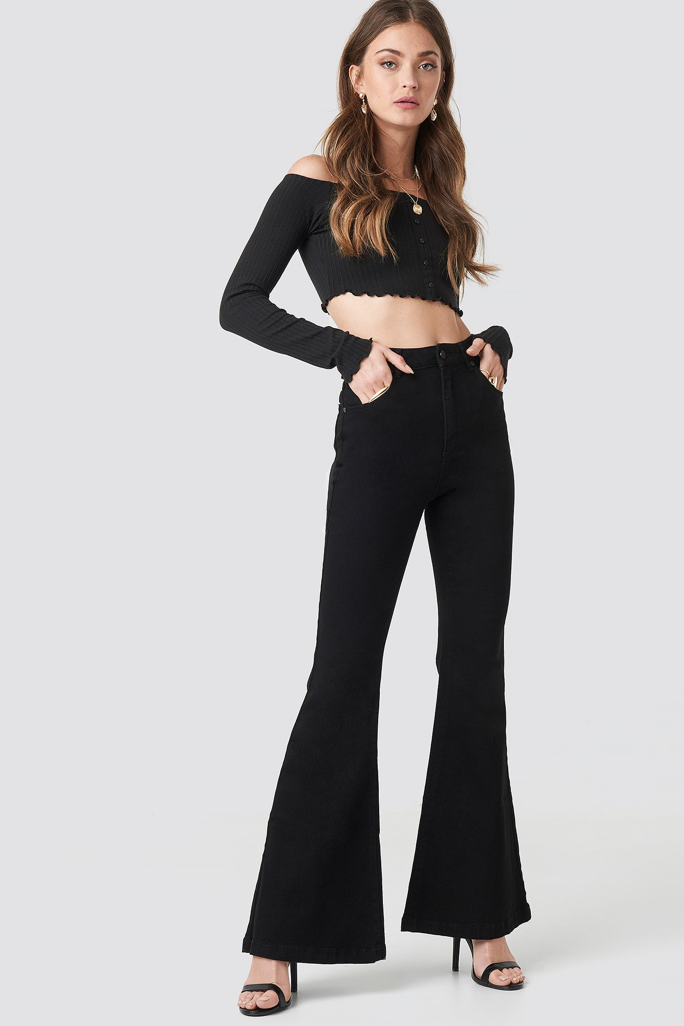 abrand -  A Double Oh Flare Jeans - Black