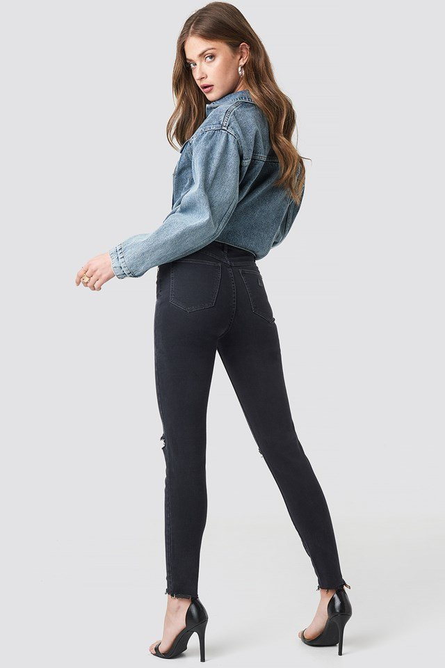 A High Skinny Ankle Basher Jeans Midnight