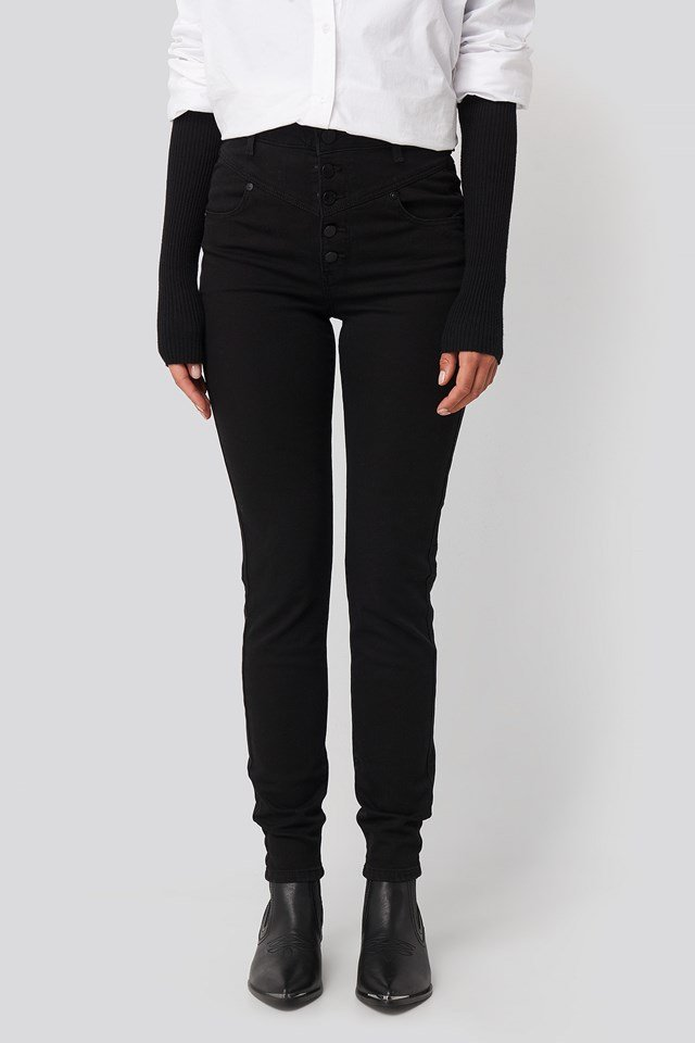 A High Skinny Ankle Basher Jeans Raiders Blk