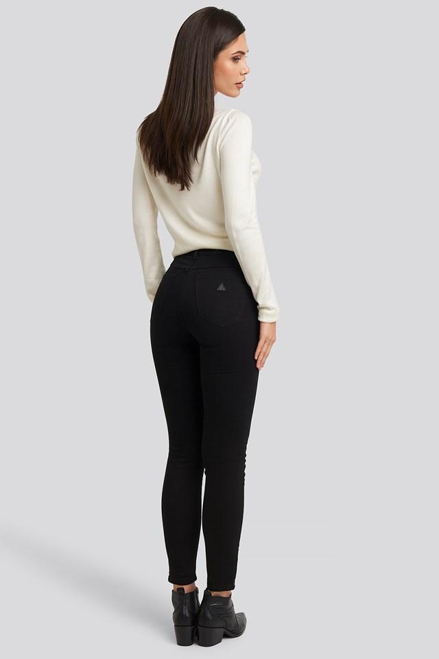 A High Skinny Ankle Basher Jeans Black Magic