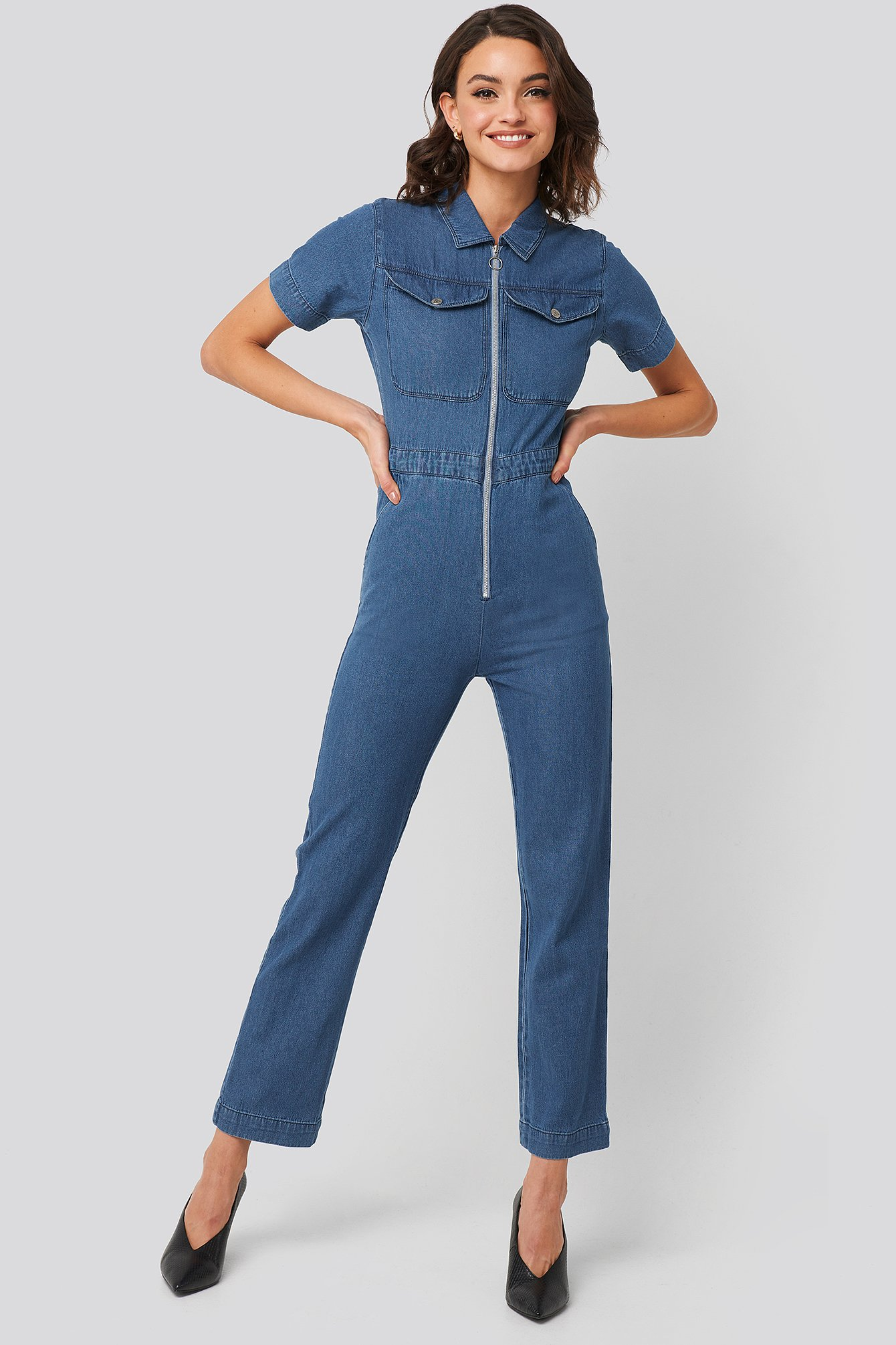 abrand -  A Kim Overall Top - Blue