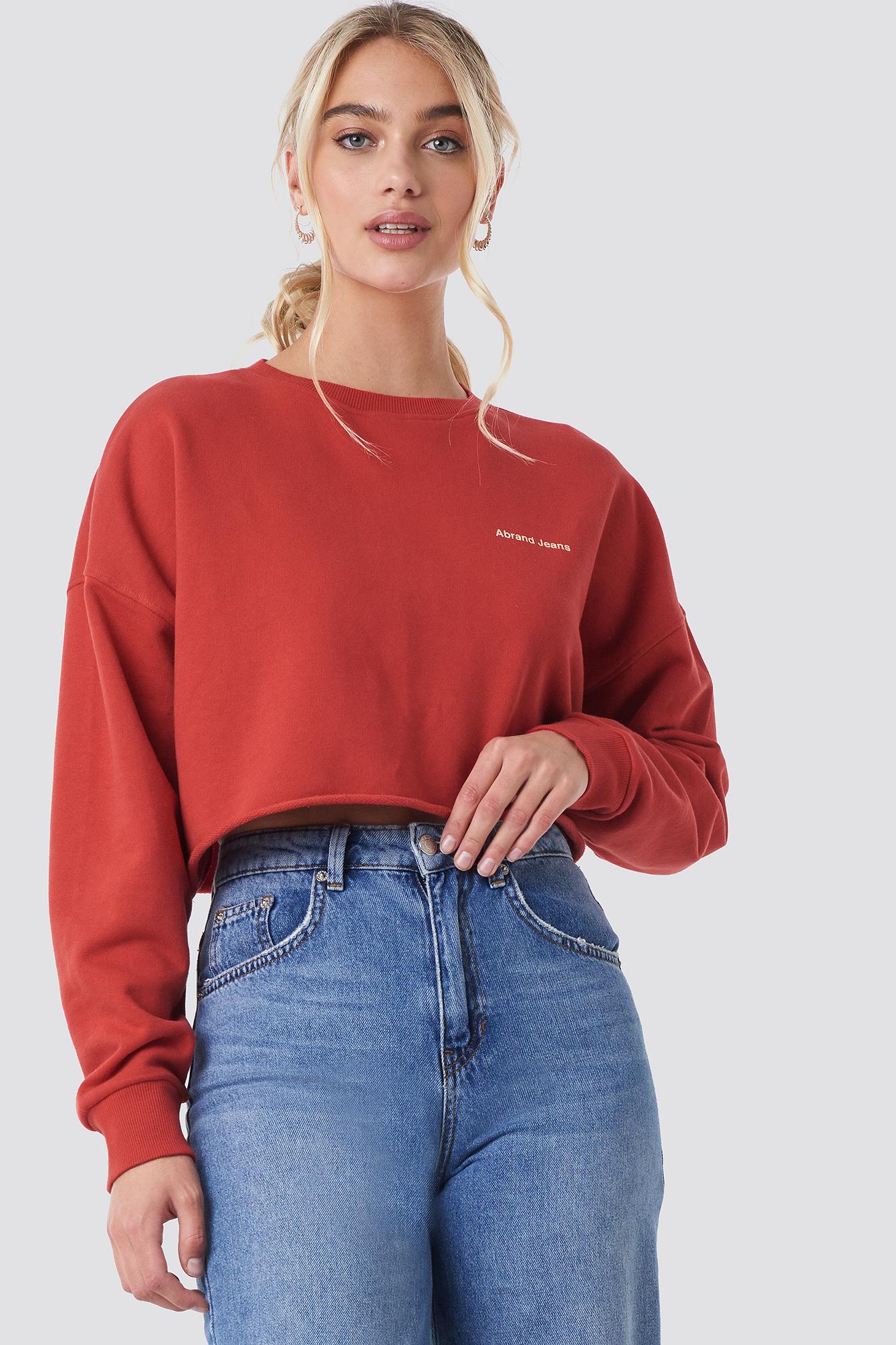 Billede af Abrand A Oversized Crop Sweater - Red