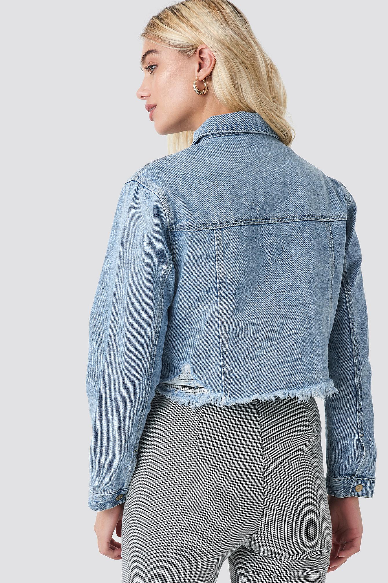 A Cropped Denim Jacket NA-KD.COM
