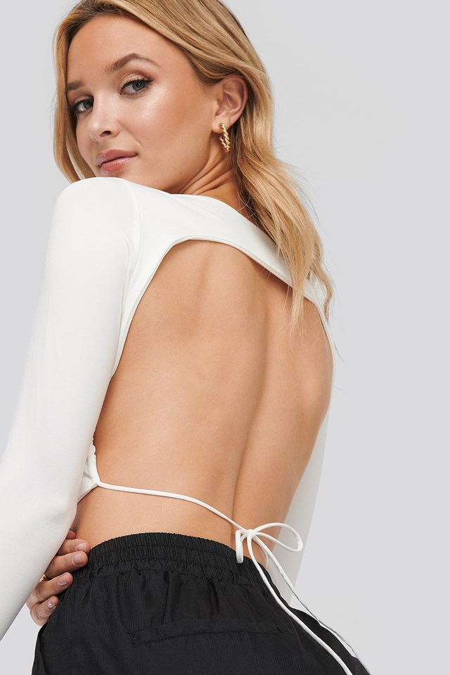 Ellie Open-Back Top White