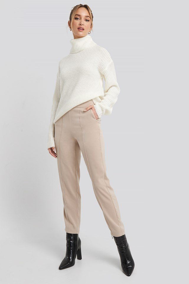 Highwaist Shiny Suit Pants Adorable Caro x NA-KD