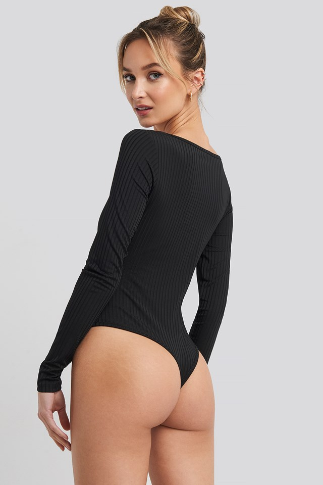 Long Sleeve Cup Body Black