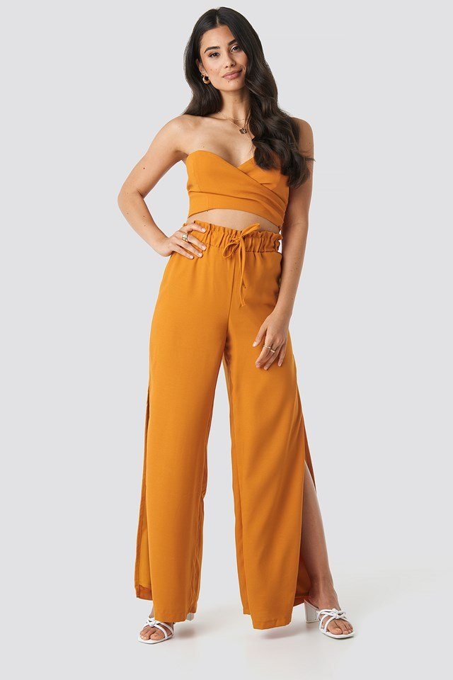 Wrap Tube Top Orange